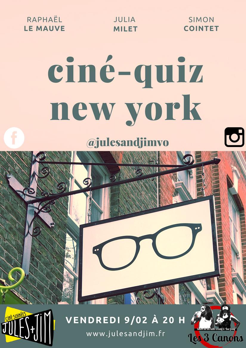 CINÉ-QUIZ NEW YORK STORIES