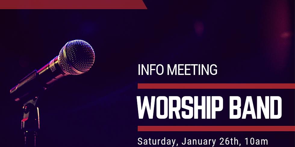 Worship Band Info Meeting