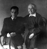 С. А. Яновская с Н. Ф. Овчинниковым, 1947 г.