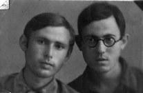 Друзья по учебе в СГУ. Борис и Саша, оба погибшие на фронте