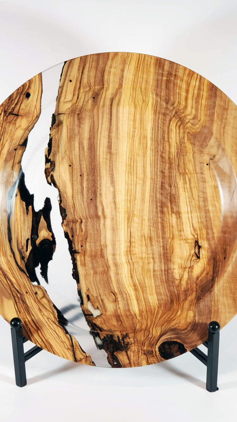 Olive Wood and Resin Platter