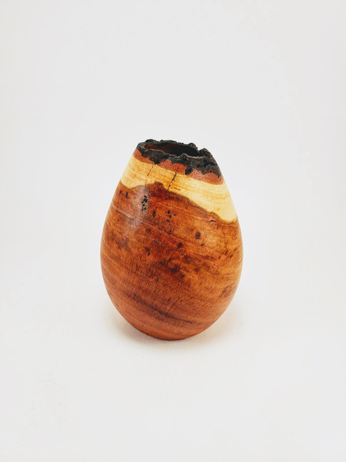 Cherry Wood Vase