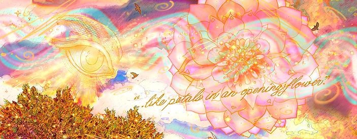 The River of awareness, being and light blesses Tobe and Auriel in Its light of love