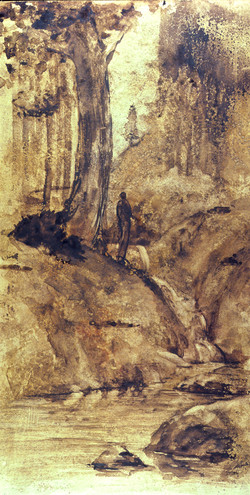 Figure Standing by a Brook