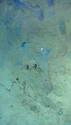 Water Color Sketch of Artist in a La