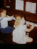 Sweet Little Sis and I Playing the Piano