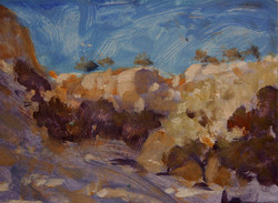 Painting Sketch of New Mexico Mesa
