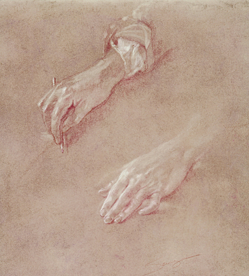 Resting Hands- Study for Painting II