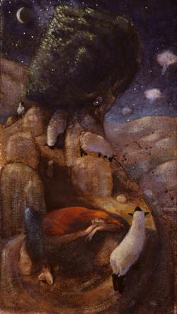 Sleeping Shepherd-Painting Sketch