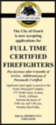 jan ceritified firefighters no pay on it