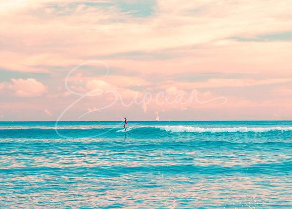 Surf Girl, Waikiki Surf, Surf Photography, Hawaii Photography, Wall Print, Wall Decor