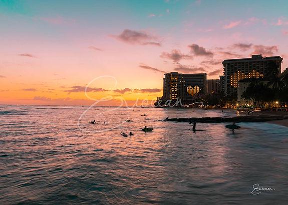 Hawaii Waikiki Beach Sunset Print-2.jpg