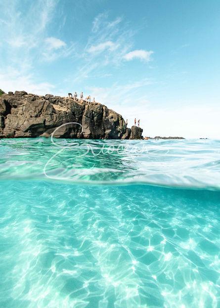 Hawaii Ocean Photography, Underwater Photography, Avobe and Underwater Photography, Wall Art, Wall Print, Ocean Picture