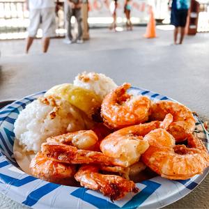 ノースショアで一番美味しいガーリックシュリンプ ‐ ハワイ オアフ島