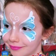 Masque Papillon bleu
