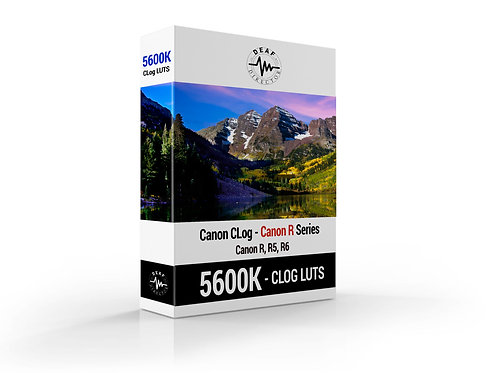 Canon R5/R6 - CLOG LUTS - 5600K LUT PACKAGE