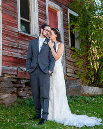 Bride and Groom at The Inn at West Settlement