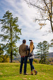 Couple taking a selfie in Cooperstown New York