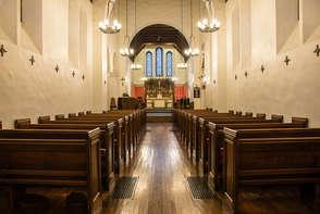 interior of St James Church in Bovina New York