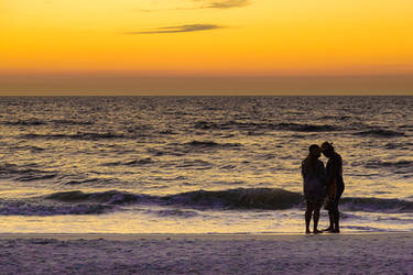 A couple on Clearwater Beach Florida