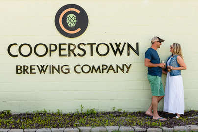 Attractive couple at the Cooperstown Brewing Company