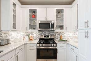 White kitchen in the Catskills