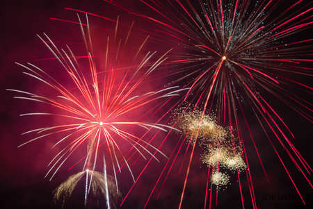Fireworks on 4th of July in Margaretville New York