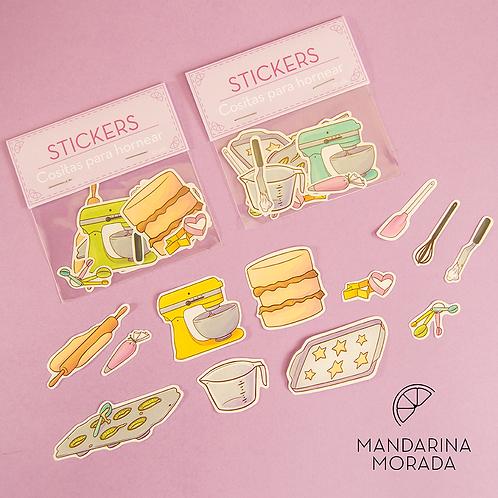 Baking supplies sticker set (paper)