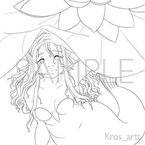 Coloring Page: Mermaid