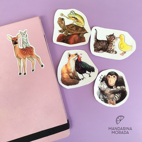 Animal Friends Sticker Set