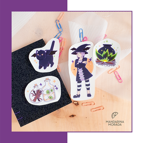 Upset Witch sticker set