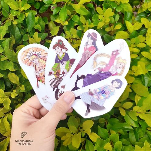 Sailor Scouts Sticker Set