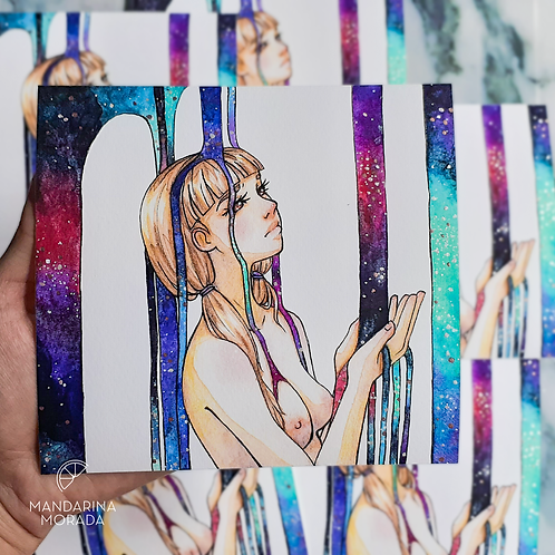 Embellished Print: Galaxy