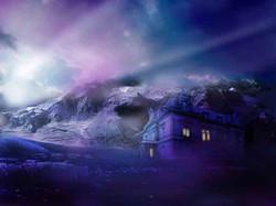 Nachts in den Alpen