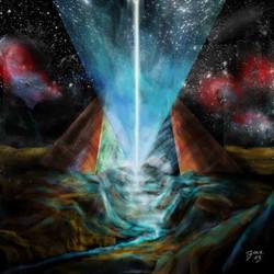 Die geöffnete Pyramide