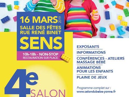 Participation au salon du bébé et de la petite enfance de Sens le 16 mars 2019