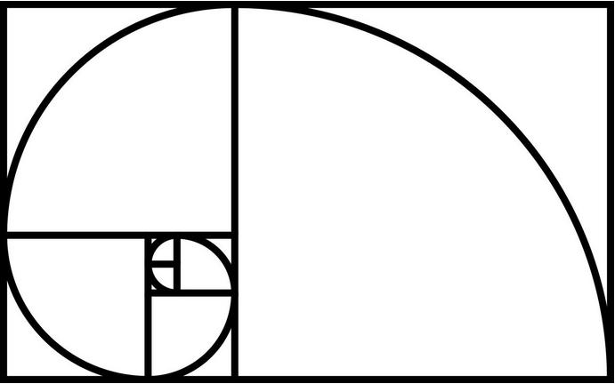 Goldener Schnitt in Grafikdesign und Webdesign Fibonaccispirale