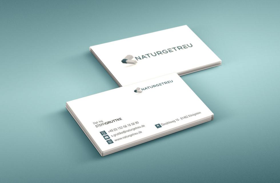 Visitenkarte Naturgetreu- Grafikdesign Köln Südgraf