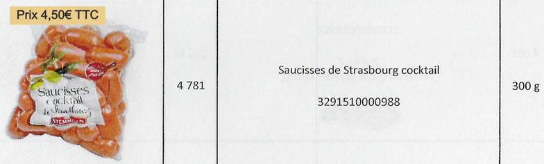 Saucisses Stasbourg cocktail
