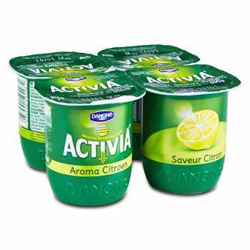DANONE - ACTIVIA Yaourts aromatisés au Citron