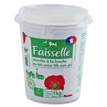 AUCHAN Faisselle 8% de matière grasse.1 kg