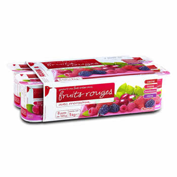 AUCHAN Yaourts aux Fruits rouges