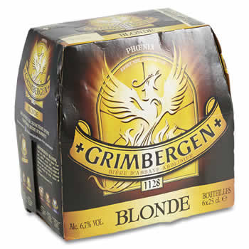 GRIMBERGEN Bière blonde  D'Abbaye