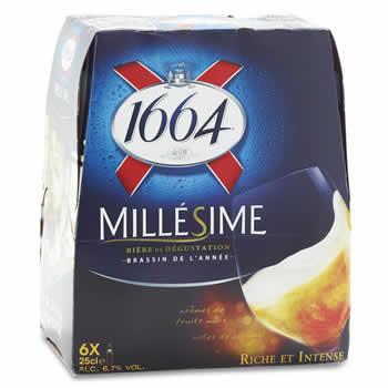 1664 Bière blonde  Millésime 6x25cl