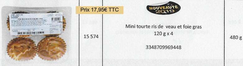 Mini tourte Ris de Veau Foie Gras