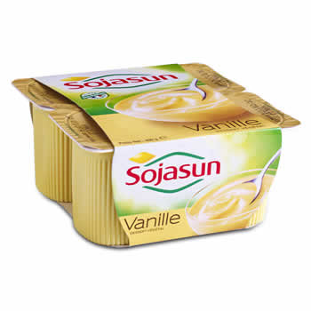 SOJASUN Yaourts au Soja aromatisé à la Vanille