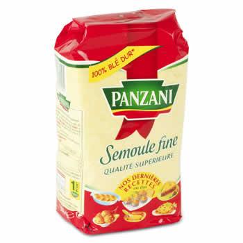 PANZANI Semoule de blé dur fine 500 g