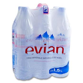 EVIAN Eau minérale naturelle   -   6 x 1.5L
