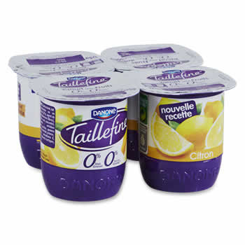 TAILLEFINE Yaourts au Citron 0%