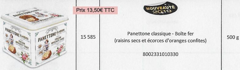 Panettone classique- boîte fer